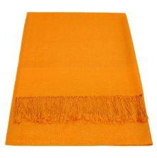 JS007-Orange-Jacquard-Shawl