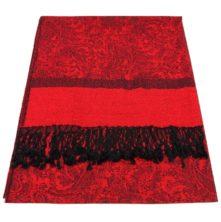 JS029-Bright-Red-Jacquard-Shawl